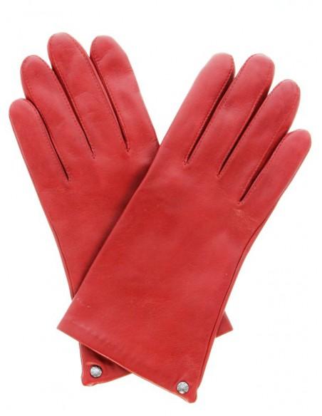 Gants en cuir agneau ref_iso68285-rouge