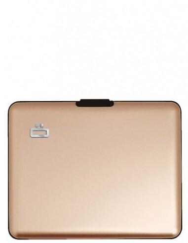Portefeuille Ogon en aluminium ref_46538 Rose/Gold 12*9*2