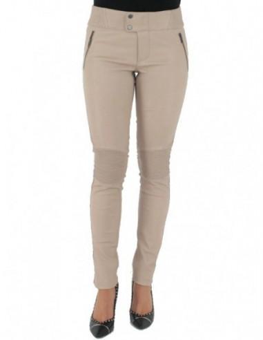 Pantalon Pallas Cuir sélection en cuir ref_sof37618-beige