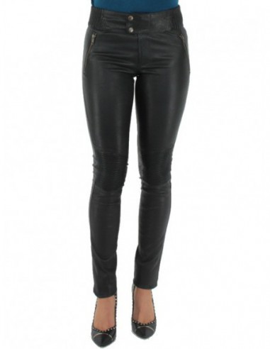 Pantalon Pallas Cuir sélection en cuir ref_sof37618-noir