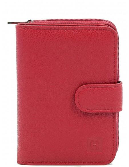 Portefeuille Hexagona en cuir ref_36664 Rouge Foncé 13*9