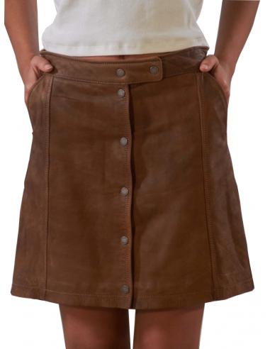 Jupe Oakwood Beckie cuir ref 51963 Fauve