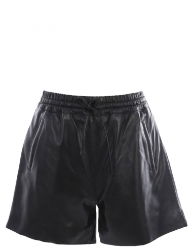 Short en cuir Oakwood ref 51954 noir